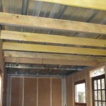 Pose des lambourdes du plafond